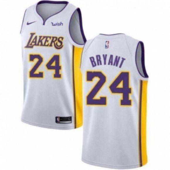 Shirts   Los Angeles Lakers 24 Kobe Bryant White Jersey   Poshmark
